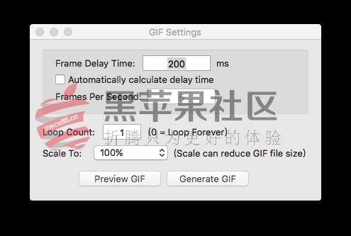 Capture Gif For Mac v1.4.4 屏幕录像GIF制作工具