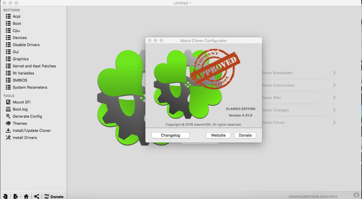 Clover Configurator v4.31.0 四叶草图形界面配置工具