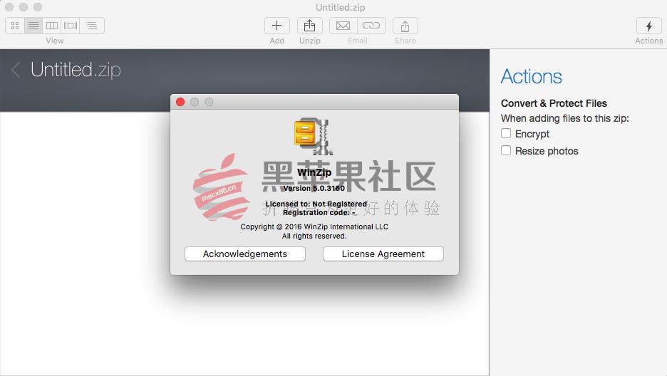 WinZip For Mac v5.0.3160 老牌压缩解压工具