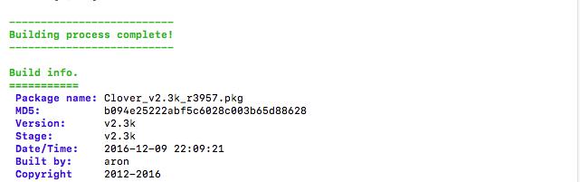 Clover v2.3k r3957 四叶草EFI文件、Pkg安装包、Win版三版齐发