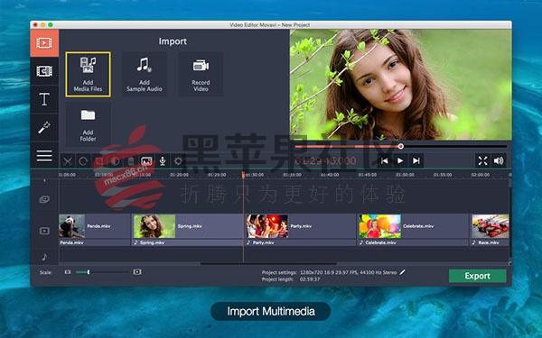 Video Editor Movavi Plus v5.3.0 好用的视频剪辑后期软件