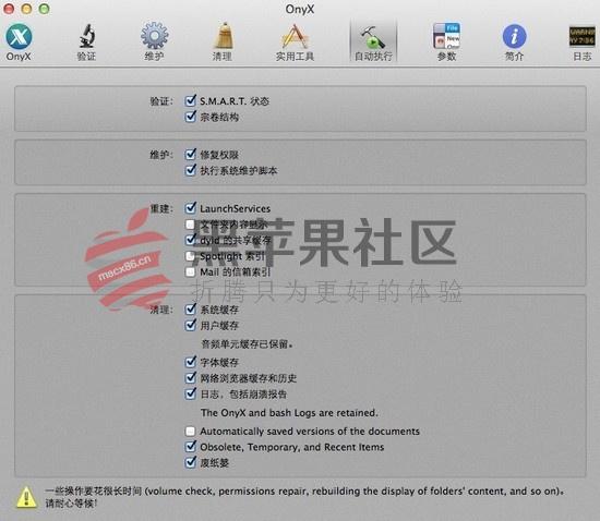 OnyX For Mac v3.2.7 老牌的系统功能增强工具