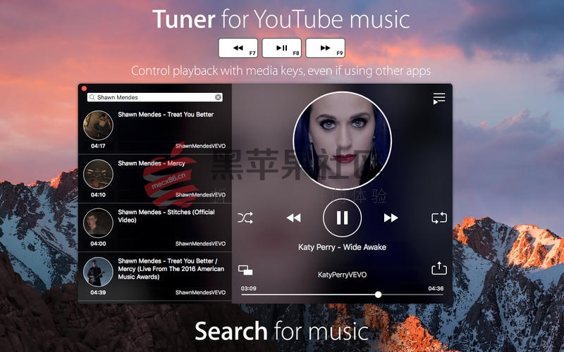 Tuner For Mac v3.0 超漂亮的音乐播放器