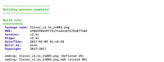 Clover v2.3k r4003 四叶草EFI文件、PKG安装包、Win版三版齐发