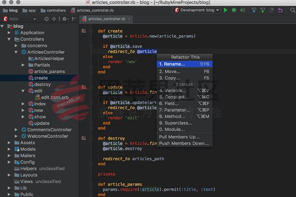 RubyMine For Mac v2017.1.5 强大的的Ruby和Rails的IDE开发工具