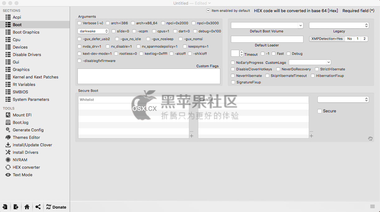 Clover Configurator v4.57.3 最新黑苹果引导四叶草配置工具