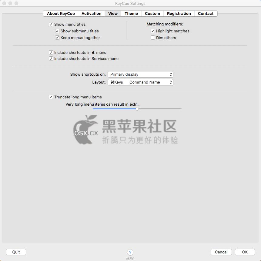 KeyCue For Mac v9.4 Mac快捷键设置辅助工具